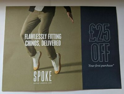 Spoke London Discount Code Voucher for £25 off for flawless chinos trousers 2