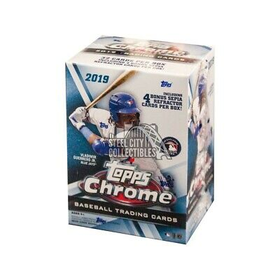 2019 Topps Chrome Baseball 8ct Blaster Box