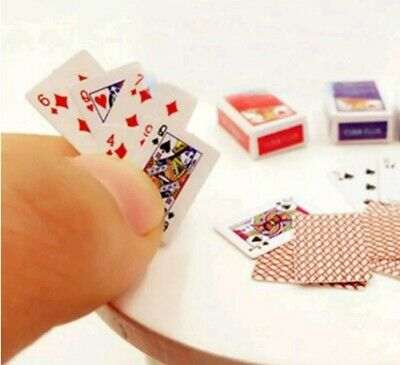 Barbie Size Miniature Playing Cards Mini Deck Of Cards 1:12 Dollhouse Diorama A