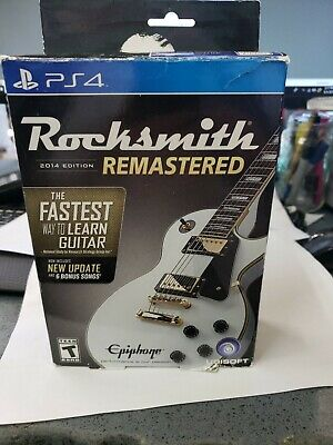 Rocksmith 2014 Edition Remastered With Real Tone Cable PS4 Game Brand New