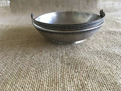 Vtg Soviet Russian Silver Plated Melchior Candy Basket, Nut Bowl