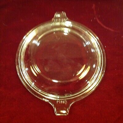 Vintage clear glass two handle Pyrex replacement lid 681-C-24