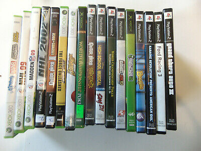 Huge Lot Of 38 PS2 Playstation 2 & Other Video Games