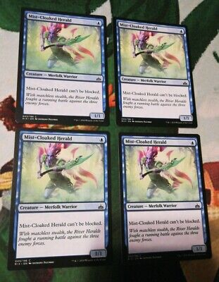 4x Mist-Cloaked Herald Rivals of Ixalan, MTG Magic The Gathering NM/LP Playset