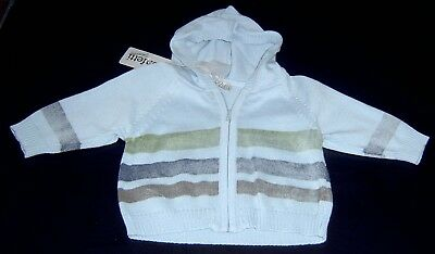 Confetti Absorba French Boys Hooded Cardigan Sz 3 Months New With Tags