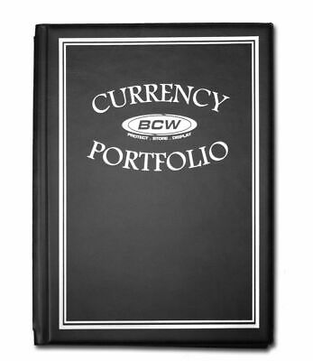 ONE BCW Currency Banknote Portfolio Album 10 page, 3 Pocket (BLACK COLOR)