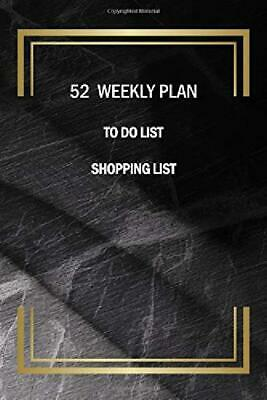 52 Weekly Plan To Do List Shopping List Mini Calendar 2019 2020 Two Year Daily P