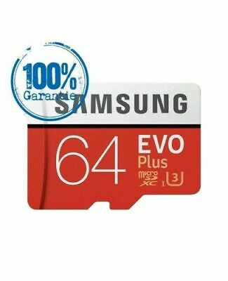 Samsung Memory 64GB EVO+ Plus Class 10 Micro SD Card with Adapter UK Seller