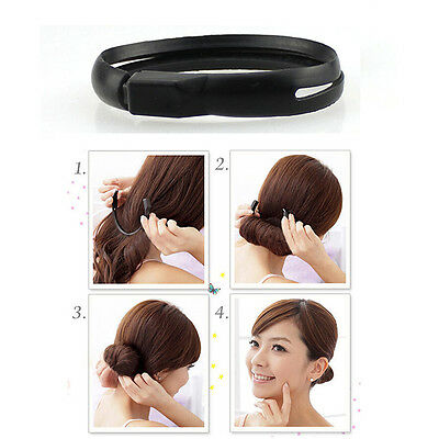 Multifunctional Hair Styler Bun Ponytail Twist Ring Maker~GN