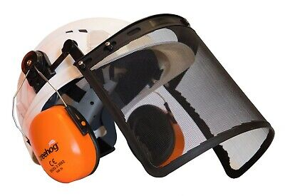 Treehog Forestry Chainsaw Helmet - White
