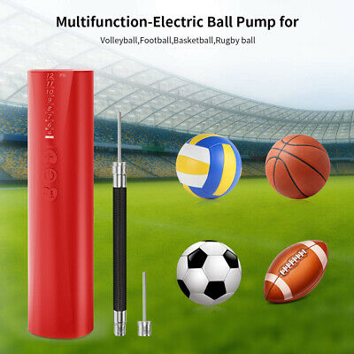 Quick fill Electric Air Pump w/ Needles for Inflating Basketball Football Rugby