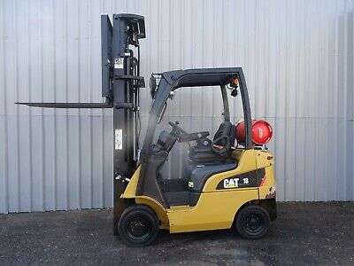CAT GP18N. 6450mm LIFT USED GAS FORKLIFT TRUCK. (#2495)