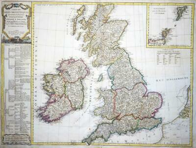 1804 - Huge Antique Map of GREAT BRITAIN IRELAND SCOTLAND Kitchin Colour (LM4)