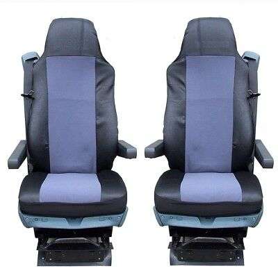 Truck Tailored Lorry RHD Set of 2 Seat Covers Black for DAF XF EURO 6 2014