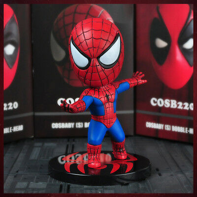 HOT Marvel Spider-Man Upside Down Spiderman Bobble Head action Figure Present
