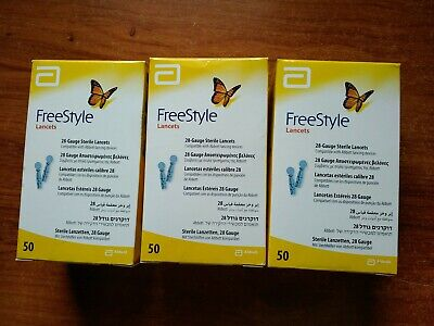 FreeStyle Lancets 28 Gauge Sterile Lancets - lot of 3 boxes