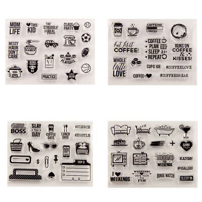 Various Labels Silicone Clear Stamp Transparent Rubber Stamps for DIY Scrapbook