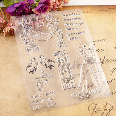 Wedding Silicone Clear Stamp Transparent Rubber Stamps DIY Scrapbooking Craft