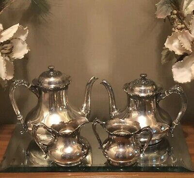 Reed & Barton Silverplate 4 Piece Tea Set Serving Set