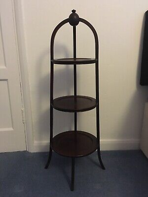 Antique Whatnot Side Table Vintage Three Tiers