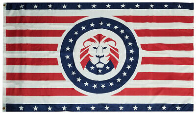 3x5 Donald Trump LION Great American 100D Woven Poly Nylon 3'x5' Flag (RUF)