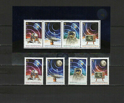 Space Apollo 11 Moon Landing 50th anniversary 2019 Australia set of 4 + s/s MNH