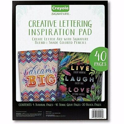 Crayola Creative Lettering Inspiration Pad - 40 Pages