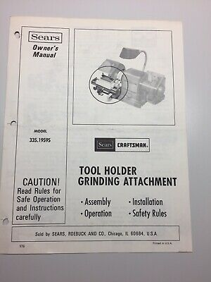 Sears Owners Manual Craftsman 3 8 Inch Electric Drill
