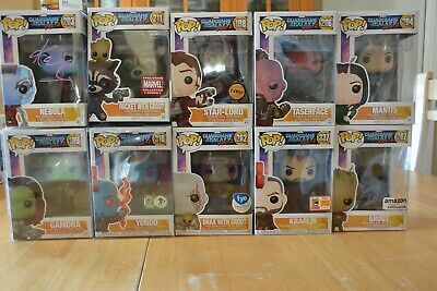 Funko Pop Guardians of the Galaxy Vol.2  LOT of 10   NEBULA Signed
