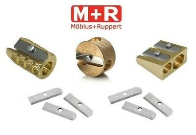Mobius & Ruppert Solid Brass Pencil Sharpeners Heavy Duty Sharpener & Blades