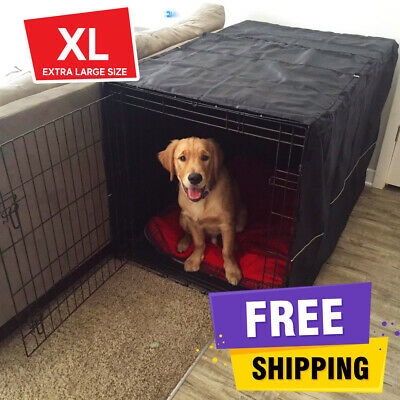 """48"""" Extra Large Dog Crate Kennel XL Giant Breed Pet Wire Cage Huge FOLDING COVER"""