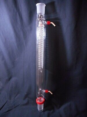 SAFE-LAB Glass High-Efficiency Coil Reflux Condenser Double Jacketed 500mm 45/50