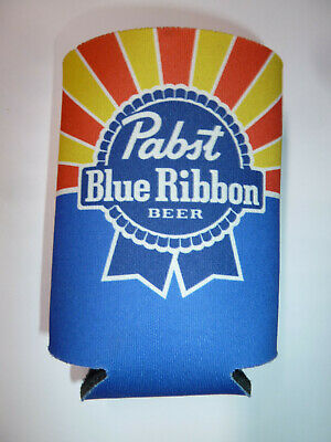 Pabst Blue Ribbon beer can and bottle foam cooler promo item logo hipster PBR!
