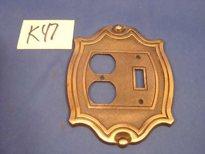 K47 Vintage Melard Mfg Wall Plate Single Switch Double Receptacle 68300-16