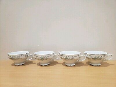 Vintage Norleans China Japan Theresa Coffee Cups lot of 4