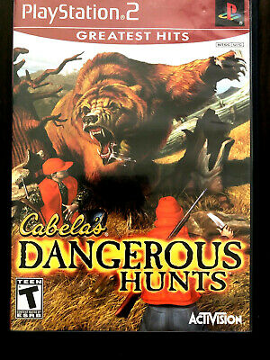 PlayStation 2 PS2 Cabela's Dangerous Hunts Greatest Hits 2003 Disc & Manual