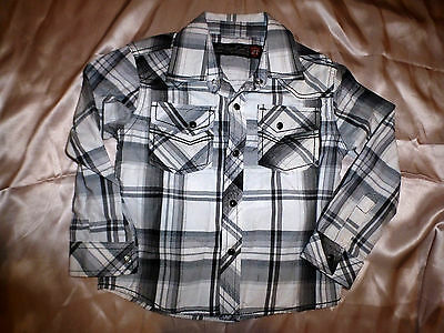SOVEREIGN CODE Baby Boys Long Sleeves Button-Down Shirt 2T