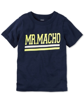 "Toddler Boy Carter's ""Mr. Macho"" Tee, Size: 4T, Blue, Retail $14.00"