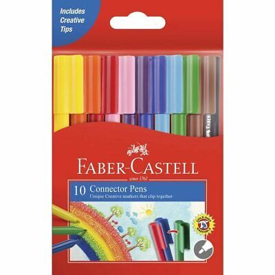 Faber Castell Connector Colour Marker Pens - 10 Pack