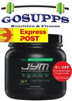 JYM Supplement Science PRE JYM 30 Servings Workout PWO Creatine FREE EXP