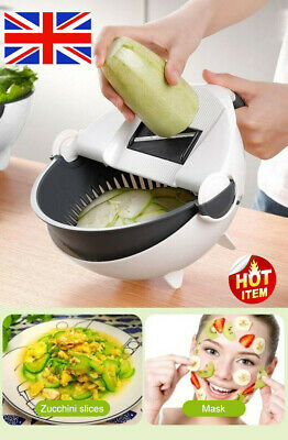 Magic Rotate The Vegetable Cutter With Drain Basket Multi-functional Kitchen NA