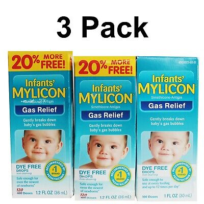 INFANTS MYLICON GAS Relief Dye Free Drops 100 Doses 1 oz X4