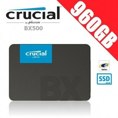 """Crucial BX500 960GB 3D NAND SATA 2.5"""" SSD Memory Solid State Drive PC Laptop SAT"""
