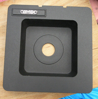 Cambo SC Monorail recessed lens board for compur 00 26.6mm hole 5x4  30mm deep