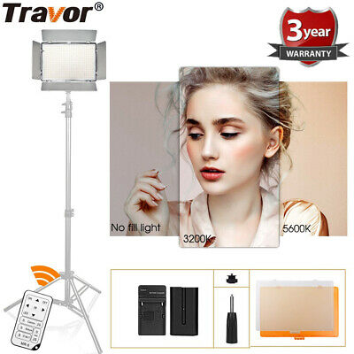 Travor 600 LED Photo Camera Video Light Dimmable 3200K/5600K + Remote Control