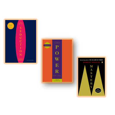 NEW - Robert Greene 3 Books Set - Concise 48 Laws, Mastery, Art of Seduction