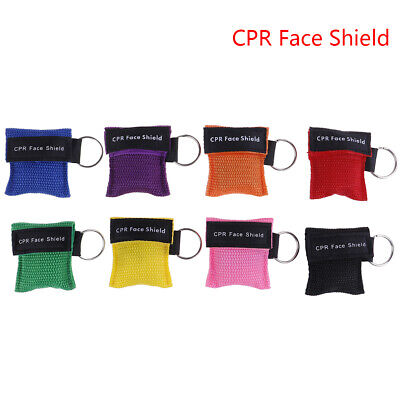 CPR Resuscitator Mask Keychain Key Ring Emergency Face Shield Mask Health Ca~GN