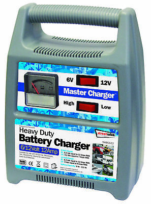 6/12v 12 Amp Plastic Cased Battery Charger SWBCG12 Streetwize Quality Product