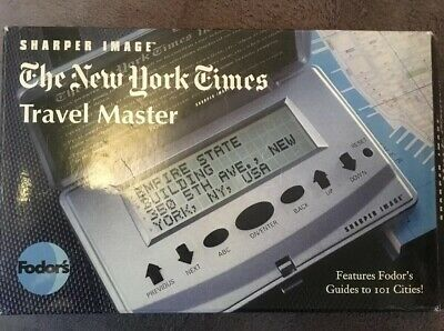 FODOR's THE NEW YORK TIMES TRAVEL MASTER sharper Image GUIDES TO 101 CITIES