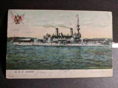 USS Oregon 1898 Pre Dreadnought Indiana class coast line Battleship 4a14590